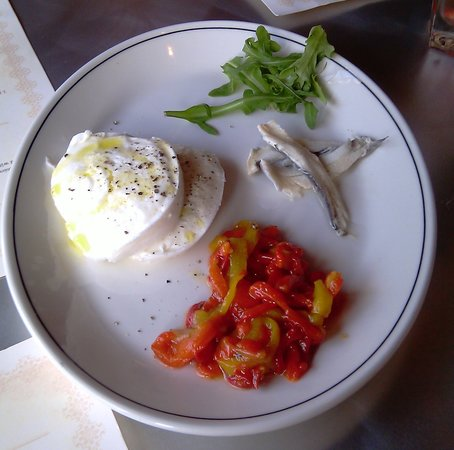 Chazz - A Bronx Original: Mozz. Burrata W Anchovies & Peppers