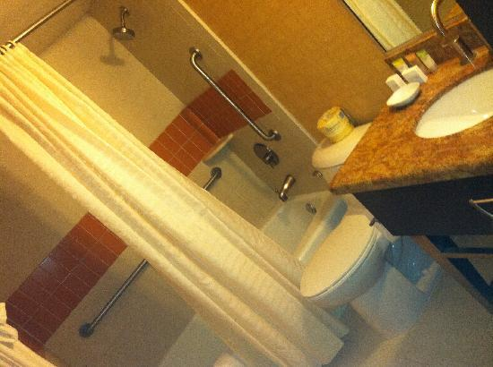 Bally's Atlantic City : Shower was the best! Also loved heat lamp and marble tops.