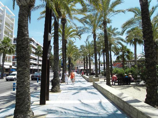 Village Park: the promenade