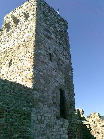 La Vela: torre medioevale ben tenuta e conservata, e con un assistente al controllo dell'ingresso