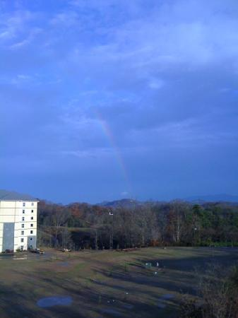 Mountain View Condos at Pigeon Forge : One of the views from our condo. I chose this one because of the rainbow.