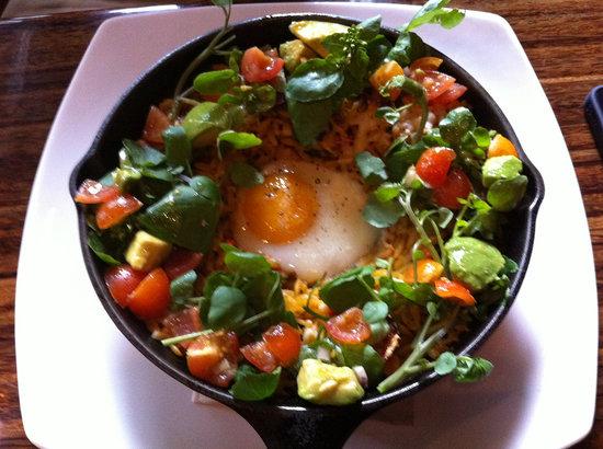 Cafe Medina: Paella - Orzo, egg, veggies, avacado