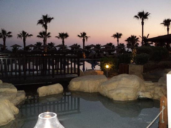 Atlantica Golden Beach Hotel: view from dinner table on the terrace