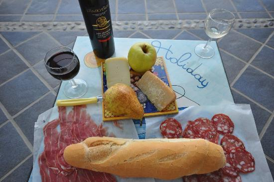 Hotel Holiday: Wine and cheese on our balcony