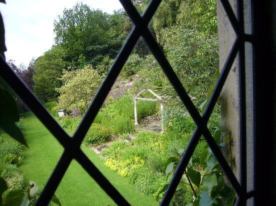 Austwick Hall: view from bedroom window