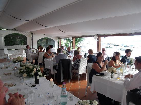 dining area at La Voglia