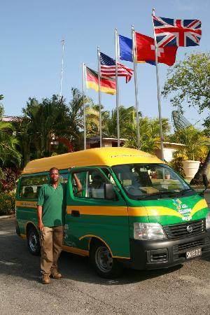 "All Seasons Resort Europa: Complimentary Shuttle bus ""Reggae Bus'"