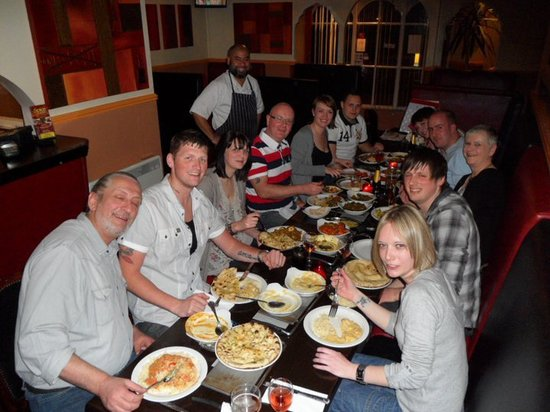 JamaL's Exclusive Indian Cuisine: JamaL's in Cleethorpes. Look at all the smiles.