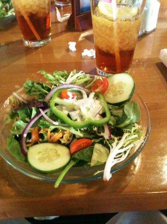 The Dunes Restaurant: Generous, crispy salad