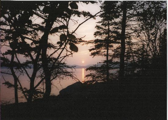 Île aux Lièvres: Charlevoix vu de la tente