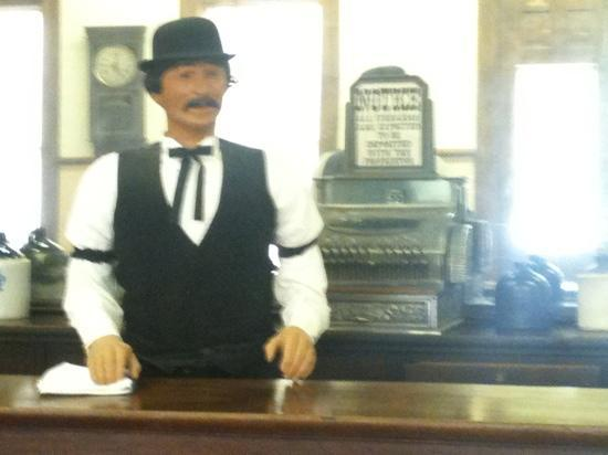 bartender at West of the Pecos Museum
