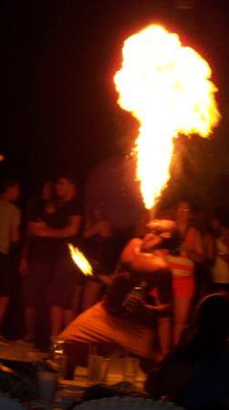 The Tropical at Lifestyle Holidays Vacation Resort : Fire spitter at the VIP party!