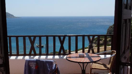 Ammopi, Yunanistan: Bett mit Aussicht