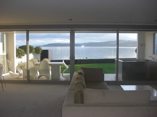 Sacred Waters Taupo Luxury Apartments: view from lounge - Apartment-1
