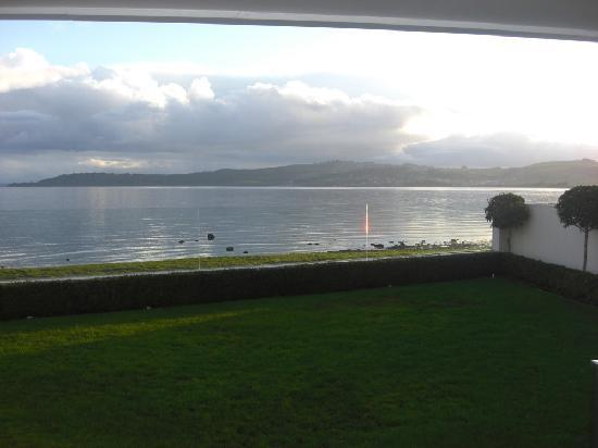 Sacred Waters Taupo Luxury Apartments: view from patio -Apartment-1