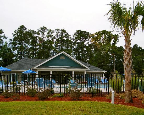 Santee, Carolina del Sur: Wyndham Clubhouse and pool area