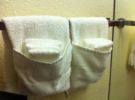Palms Garden Inn: clever little towel folding :)
