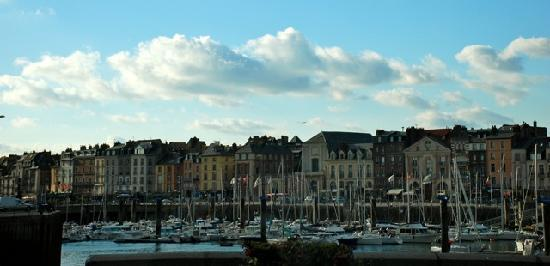 Dieppe, France : The harbor area.