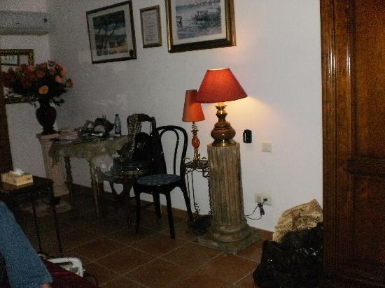 Hotel Martinengo : les cièges et la colonne antique