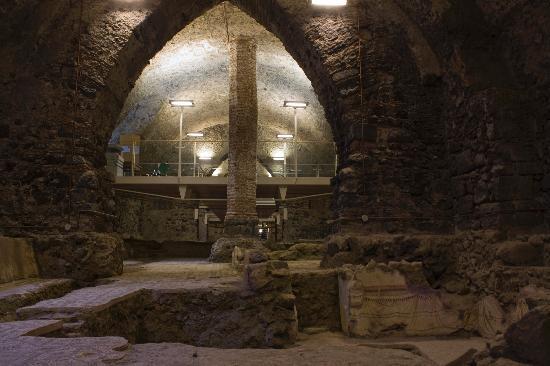 Monastero dei Benedettini: Emeroteca con Domus romana