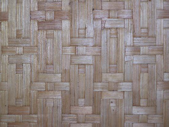 Magic Reef Bungalows: woven wall coverings