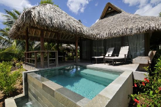 Fare hana restaurant picture of intercontinental moorea for Garden pool bungalow intercontinental moorea