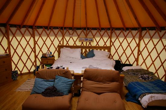 Pencuke Farm Holidays: Inside of the yurt