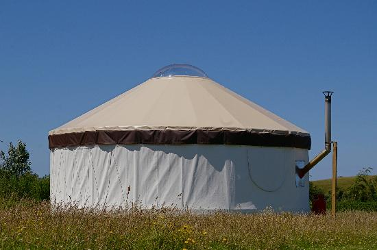 Pencuke Farm Holidays: Outside the yurt