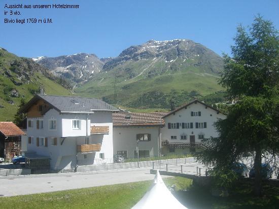 Hotel Grischuna Bivio: Aussicht aus dem Zimmer
