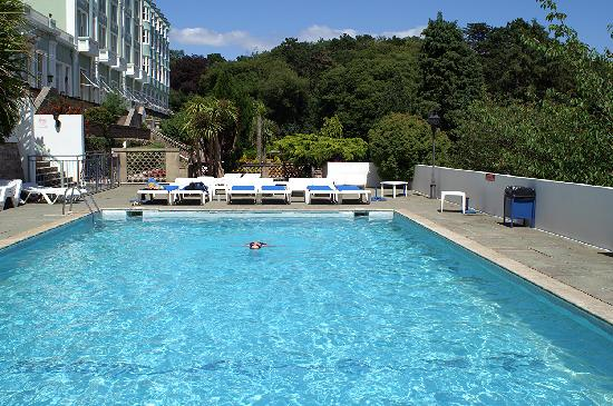 Anstey 39 s cove near hotel picture of the palace hotel for Heated garden swimming pools