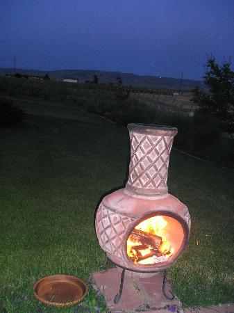 Girasol Vineyard & Inn: our fire