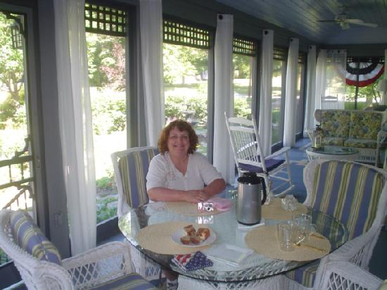 Hammondsport, NY: Porch and my friend