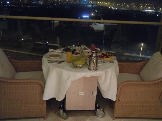 Raffles Dubai: Great room service overlooking city