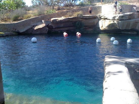 Blue Hole: They train divers here.