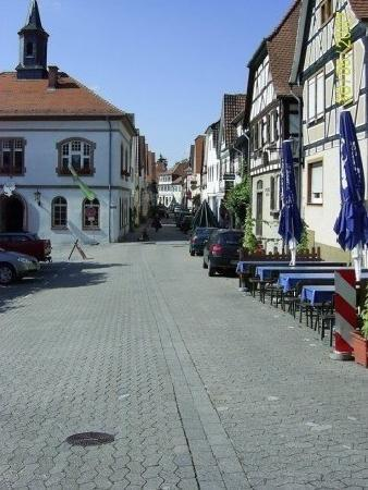 Zwingenberg, Germany: Market Square looking down Obergasse Street