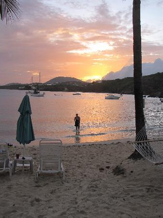 Benner, St. Thomas: Beach at sunset