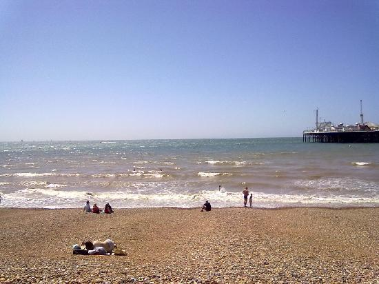 The beach with the Pier to the right.