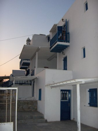 Stelios View Mykonos Town: The view from the front of the pension