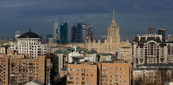 Lotte Hotel Moscow : view from the fire stairs