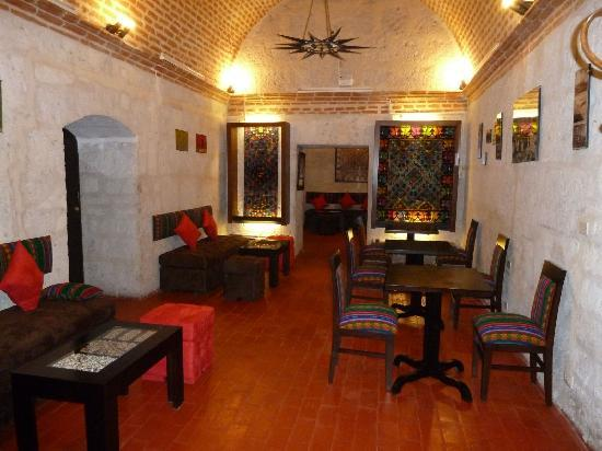 Cafe Bar Señor Misti: one of the 2 rooms to seat and enjoy