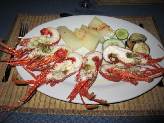 Yandup Island Lodge: Langoustines! My favorite meal on the island!