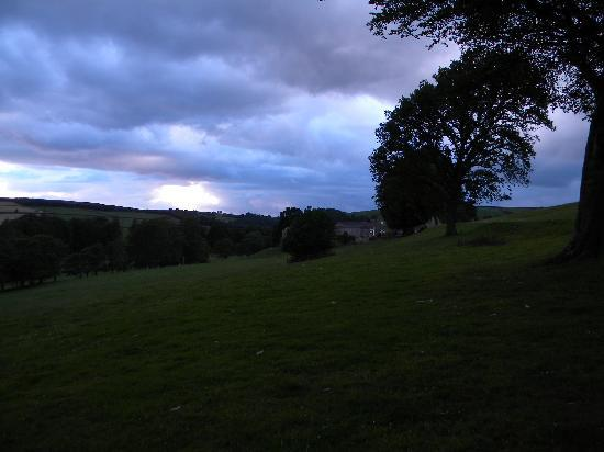 Scaife Hall Farm: Sunset over the farm