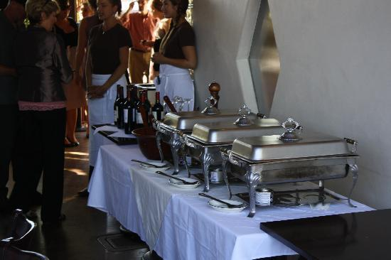 The Range: The Buffet table
