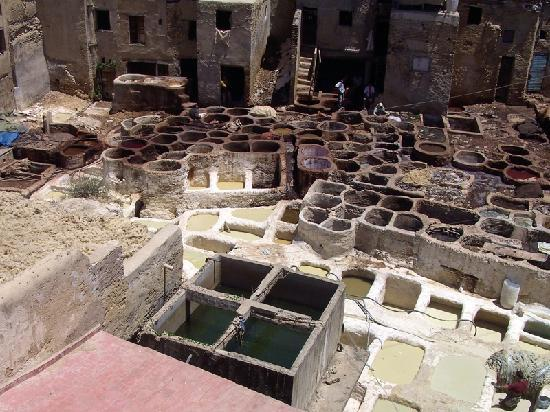 Fès, Marocko: The Tannery