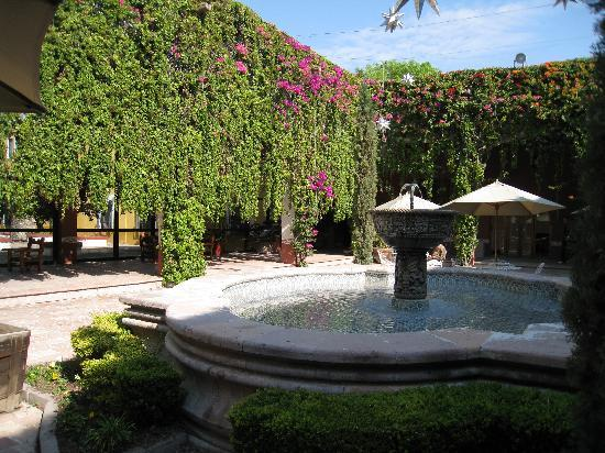 Hacienda Jurica: Part of the Gardens in the center of the Hotel