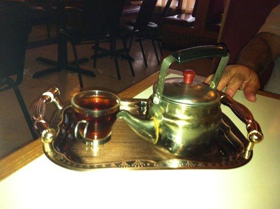 Heart of Jerusalem Cafe : sweet sage-infused hot tea......delicious!!