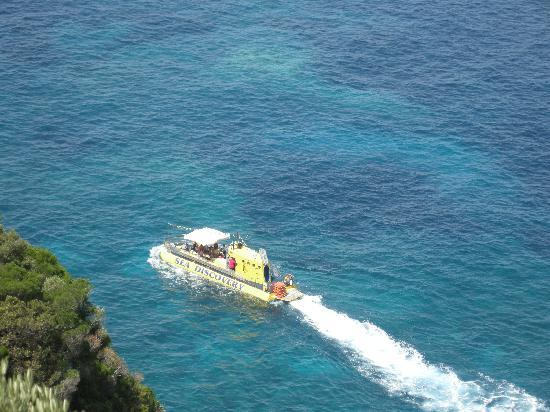 Corfu, Greece: Yellow Submarine - Paleokastritsa