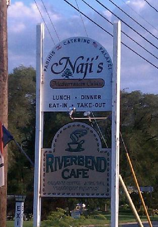 Naji's: Look for this low-key sign.