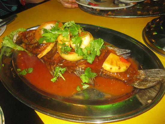 ماليزيا: Fish dish, at  Sayam,