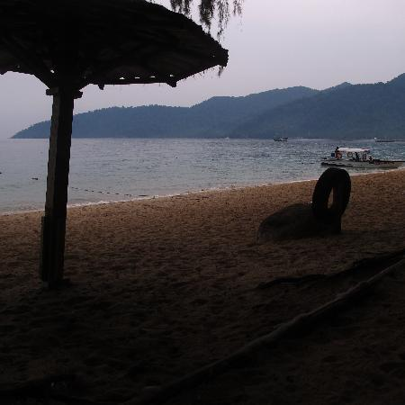 Swiss Cottage Tioman: in front our bungalow..